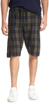 Vince Plaid Drop-Rise Drawstring Shorts