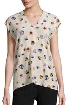 Christopher Kane Ditsy Silk Top