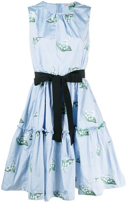 RED Valentino May Lily bow-embellished dress