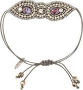 Pink Pewter Purple Drawstring Bracelet