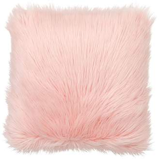 Pottery Barn Teen Fur-rific Faux-Fur Pillow Cover, Himalayan Blush