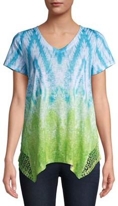 Time and Tru Women's Short Sleeve Dolman Sublimation T-Shirt