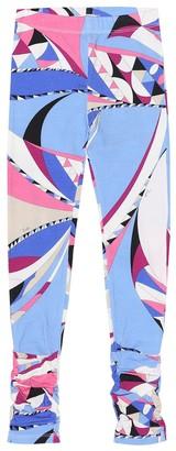 Emilio Pucci Kids Printed cotton-jersey leggings