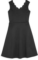 Aqua Girls' Scalloped Flared Knit Dress, Big Kid - 100% Exclusive