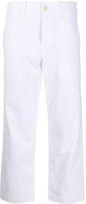 Jejia High-Waisted Cropped Trousers