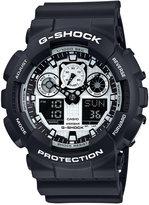 G-Shock Men's Analog-Digital Black and White Black Bracelet Watch 55x51mm GA100BW-1A