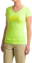 Huk Script-Logo T-Shirt - V-Neck, Short Sleeve (For Women)