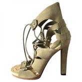 Gucci Khaki Suede Sandals
