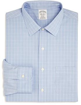 Brooks Brothers Puppytooth Plaid Regular Fit Dress Shirt