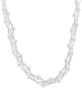 Bella Pearl Pearl & Glass Bead Braided Necklace