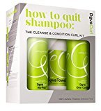 DevaCurl How To Quit Shampoo: No Poo 12ounces and 1 Condition 12ounces with Fiber Towel