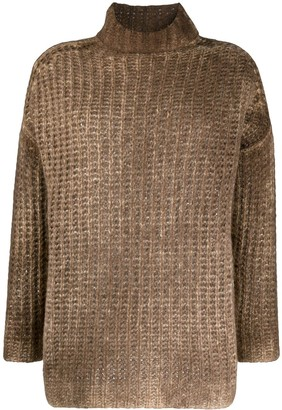 Avant Toi Chunky-Knit Roll-Neck Jumper