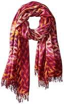 Theodora & Callum Women's Braid Gypsy Fringe Scarf, Pink