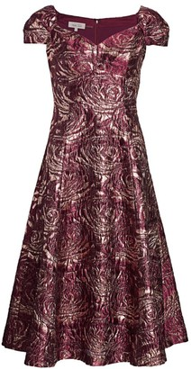 Teri Jon by Rickie Freeman Brocade Fit & Flare Dress