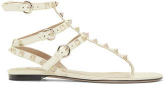 Valentino Off-White Garavani Rockstud Caged Sandals