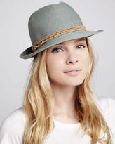 Hat Attack Fine-Braid Fedora, Slate