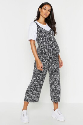 boohoo Maternity Ditsy Floral Culotte Jumpsuit