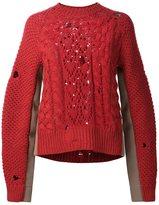 MM6 MAISON MARGIELA cable knit sweater
