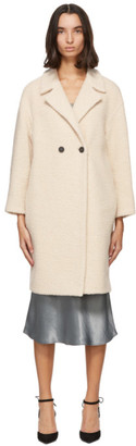 Harris Wharf London Beige Boucle Wool Coat