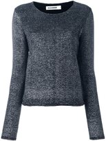 Jil Sander metallic knit top - women - Polyamide/Polyester/Virgin Wool - 38