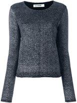 Jil Sander metallic knit top - women - Virgin Wool/Polyester/Polyamide - 38