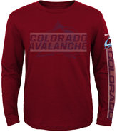 Reebok Boys' Long-Sleeve Colorado Avalanche Line Up T-Shirt