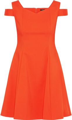 Raoul Cold-shoulder Cotton-blend Cady Mini Dress