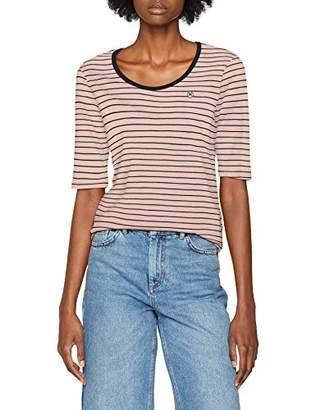 Scotch & Soda Maison Women's Classic Striped Tee with Longer Length Short Sleeve T-Shirt,Medium