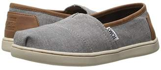 Toms Kids Seasonal Classics (Little Kid/Big Kid) (Frost Grey Chambray/PU) Kids Shoes