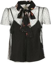 RED Valentino Neck Tie Sheer Blouse