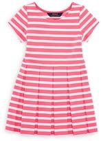 Ralph Lauren Girls' Stripe Ponte Dress - Sizes 2-6X