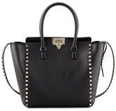 Valentino Rockstud Double-Handle Shoulder Tote Bag, Black