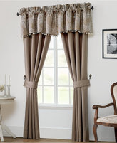 "Waterford Trousseau Mocha 21"" x 55"" Scalloped Window Valance"