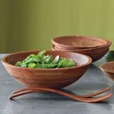 Williams-Sonoma Cherry Wood Salad Bowls