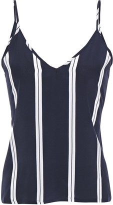Être Cécile Ellie Striped Silk Crepe De Chine Camisole