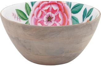 Pip Studio Blushing Birds Wooden Salad Bowl - 24cm - White