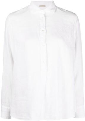 Massimo Alba Spread-Collar Linen Shirt