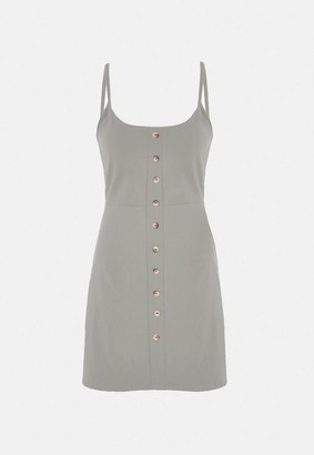 Missguided Tortoiseshell Button Through Mini Dress