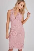 Little Mistress Eloise Rose Lace Bodycon Dress