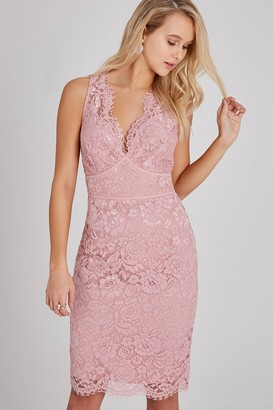 Eloise Rose Lace Bodycon Dress