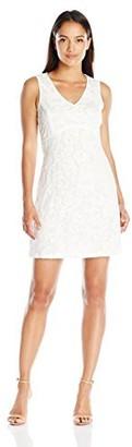 Lark & Ro Amazon Brand Women's Petite Sleeveless Chunky Lace A-Line Dress