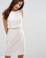 Oasis Metalic Lace Double Layer Dress