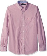 Nautica Men's Classic Fit Wrinkle Resistant Striped Shirt