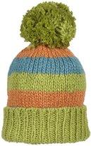 Kiwi Pom Pom Hat (Baby Teal/Marigold-Smalll (6-24 Months)