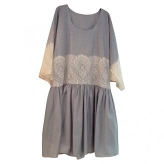 Alexis Mabille Blue Cotton Dress for Women