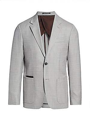 Ermenegildo Zegna Men's Textured Wool Jacket