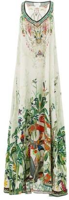 Camilla Daintree Dreaming Forest-print Silk Dress - Womens - White Print