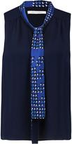 Diane von Furstenberg Britni pussy-bow silk blouse