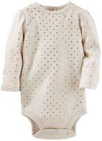 Osh Kosh Baby Girl Foil Heart Bodysuit