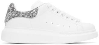 Alexander McQueen SSENSE Exclusive White and Silver Oversized Sneakers